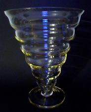 Jugendstil Glas Trichtervase Uranglas Theresienthal Art Nouveau Vase ca 1900