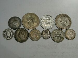 10 Silver World/Foreign Mix Coins 49.8 grams.  #22
