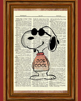 Joe Cool Snoopy Dictionary Art Print Picture Poster Peanuts Literary Gift