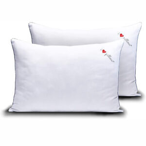 I Love Pillow Cotton Sleeping Cooling Cumulus Pillow, Queen Size, White (2 Pack)