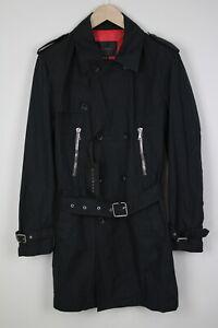 JOHN RICHMOND Men's (EU) 48 or ~MEDIUM Double Breasted Zip Coat 38994_ES