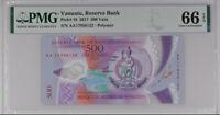 VANUATU 500 VATU 2017 P 18 POLYMER GEM UNC PMG 66 EPQ