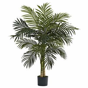 Golden Cane Palm Tree Artificial Realistic Nearly Natural 4' Home Garden Decor