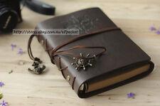 Dark Brown  Vintage Traveler Sailing Bound Diary Journal Notebook PU Leather