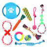 Set of 10 Dog Chew Squeaky Toys Cotton Rope Puppy Toy Variety Dog Toys Gift Set