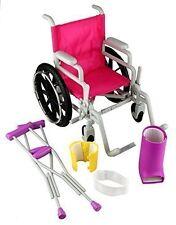 Click n' Play Doll Wheelchair and Crutches Set
