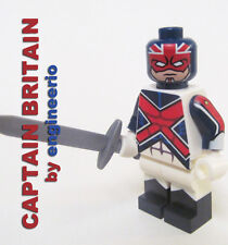 LEGO Custom Captain Britain Marvel Superheroes america iron man spiderman dc