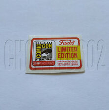 STICKER REPLACEMENT SDCC 2018 LIMITED EDITION FUNKO POP