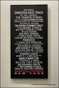"Saratoga Race Track - Framed Bus Roll Print - 14"" x 30"""