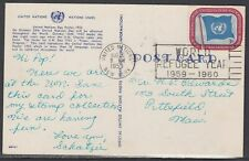 United Nations Scott 443 - Aug 6, 1959 Domestic Post Card