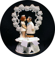 Doctor & Nurse Doc Dr adorable Funny Wedding Cake Topper funny Outdoor nature