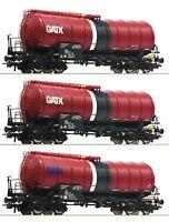 Roco HO 76088 3 piece set: Slurry wagons