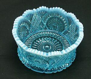 Mosser Glassware Aqua Opal Carnival Classic Diamond 6 Inch  Finger Bowl