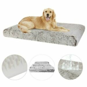 Extra Large Pet Dog Bed Fluffy Soft Plush Cushion With Washable Removable Cover