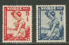 Norway 1950 Child/Flowers semipostal--Attractive Health Topical (B48-49) MH