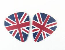 10pcs 1.0mm THE FLAG of UK Guitar Picks Plectrums Printed Both Sides