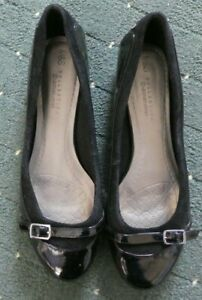 M&S Collection Ladies Black Leather Upper Shoe - Size 7 - Worn once