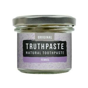 Truthpaste Natural Fennel Toothpaste - Flouride SLS Cruelty Free - Organic Vegan