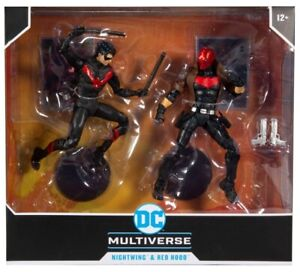 "DC Multiverse Nightwing vs Red Hood Two-Pack Set Deluxe 7"" Figure - Preorder"