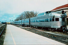 788087 D  RGW California Zephyr With Observation Silver Sky A4 Photo Print