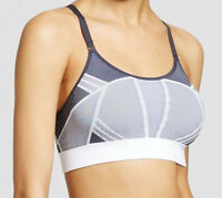 C9 By Champion Seamless Strappy Cami Sports Bra Gray White Low Impact
