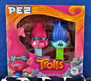 PEZ  -  DREAMWORKS - TROLLS - ***(2016) POPPY and BRANCH*** -  Twin Pack/Box Set