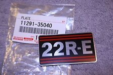 22R-E Engine Name Plate - Celica Corona Pickup 4Runner - Genuine Toyota - 22RE