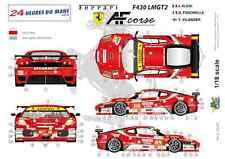 """[FFSMC Productions] Decals 1/18 Ferrari F-430 LMGT2 """"AF Corse"""" (LM 2010)"""
