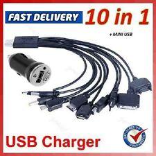 10 En 1 Universal Usb Multi Cargador Adaptador De Cable Para Teléfono Móvil Psp coche Mini