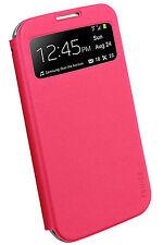 FENICE Piatto View Samsung Galaxy S4 Premium Italian PU Leather Case - Pink
