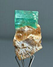 12 CT terminated transparent Emerald crystal on Matrix Panjsher Afghanistan