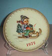 Goebel Hummel 5th Annual Plate 1975 Ride Into Christmas #268 Tarrytown Archive