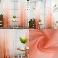 New Floral Tulle Voile Door Room Window Curtain Drape Panel Sheer Scarf Valances