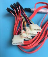 Mini SAS 36P SFF8087 to 4 X SFF 8482 29P SAS with Power Red Cable 1M S4O2