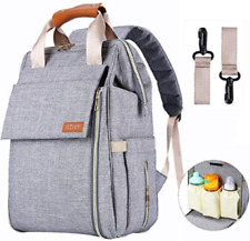 Diaper Bag, Baby Backpack with Multi-Function Large Capacity and Durable Gray