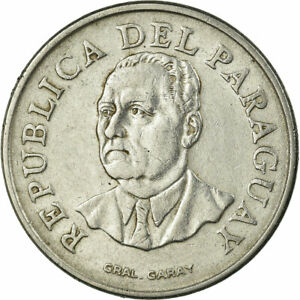 [#704728] Coin, Paraguay, 10 Guaranies, 1975, EF, Stainless Steel, KM:153