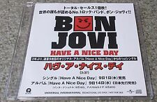 BON JOVI Japan PROMO ONLY 1 track CD acetate NICE DAY original OFFICIAL sleeve