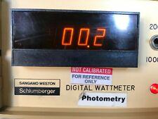 Sangamo Weston Schlumbberger Digital Watt Meter