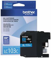 GENUINE NEW Brother LC-103 LC-103XL Cyan Ink Cartridge