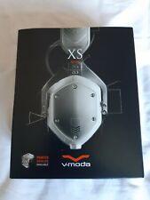 V-MODA XS - On Ear Cliqfold 3D Headphones - White Silver - BNIB