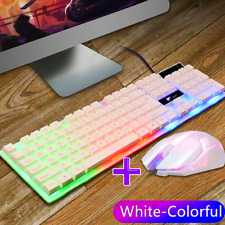 Keyboard Mechanical And Mouse Combo Gaming Led Set Compatible For PS 4 Wired US