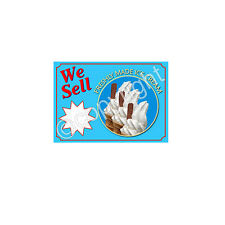 ICE CREAM STICKER for catering trailer