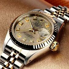 LADY ROLEX 18K/SS DATEJUST W/ FACTORY ROLEX JUBILEE DIAMOND DIAL