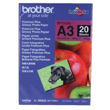 Brother A3 Premium Plus Glossy Photo Paper (Pack of 20) BP71GA3 [BA65840]