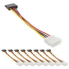 Lot 10x 4 Pin IDE Molex to 15 Pin Serial ATA SATA Hard Drive Power Adapter Cable