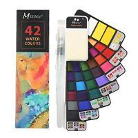 Watercolor Paint Set, 42 Assorted Colors Professional Travel Foldable Paint Set