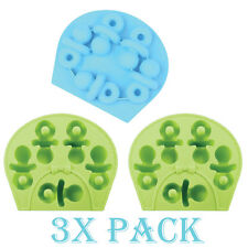 3 X Pacifier Baby Shower Mold Shape Ice Cube Tray Chocolate DIY Candy Baking