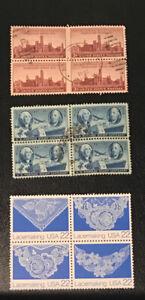 USA 1946on Blocks Of 4 SG940 FU, SG944 FU, SG2309-12 UM 99p Start