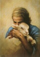 Katherine Brown JESUS AND THE LAMB 20x16 Full Color Signed paper print Shepherd
