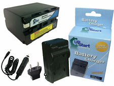Battery + Charger + Car Plug + EU Adapter for Sony HDR FX1, HVR HD1000U